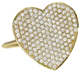 Jennifer Meyer Large Diamond Heart Ring - Yellow Gold