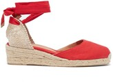Castaner Carina 30 Canvas And Jute Espadrille Wedges - Womens - Red