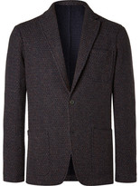 Altea Tod Multi Weave Fabric Blazer - Navy