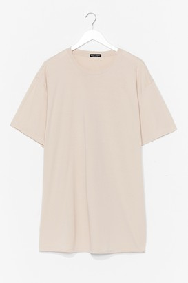 Nasty Gal Womens Easy Does It Tee Dress - Sand