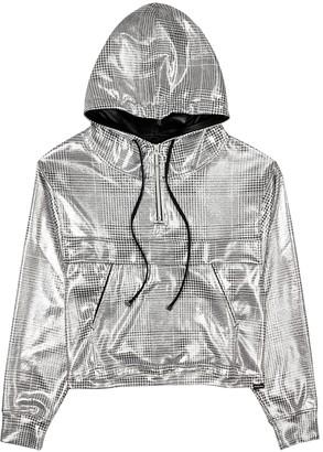 Koral Activewear Reserve grey checked metallic jersey sweatshirt