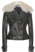 Altuzarra Fur-trimmed Leather Jacket