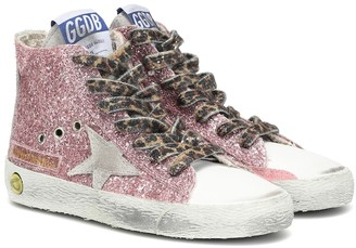 Golden Goose Kids Francy high-top glitter sneakers