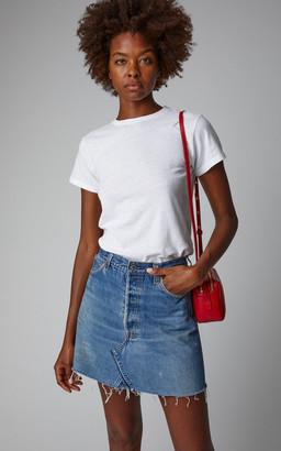 RE/DONE High-Rise Denim Mini Skirt
