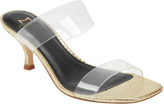 Marc Fisher Guadias Two-Band Clear Rubber Slide Sandals