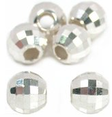 Generic 6 Mirror Beads Faceted Silver Beading Jewelry Parts 8mm