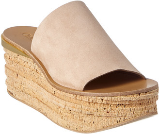 Chloé Camille Suede Platform Wedge Sandal