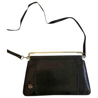 Christian Dior Black Lizard Clutch bags