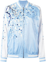 P.A.R.O.S.H. embroidered bomber jacket - women - Polyester - M