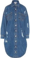 Moschino Distressed Denim Dress