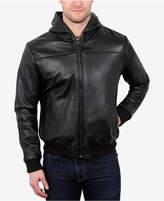 William Rast Men's Leather Hoodie