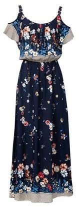 Dorothy Perkins Womens *Izabel London Navy Cold Shoulder Maxi Dress