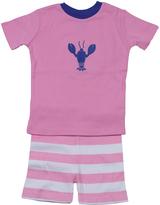 New Jammies Pink Stripe Lobster Organic Shorts Pajama Set - Infant