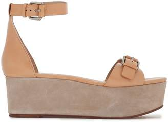 Michael Kors Buckled Leather Platform Sandals