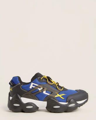 Polo Ralph Lauren Black & Royal Blue RLX Tech Low-Top Sneakers