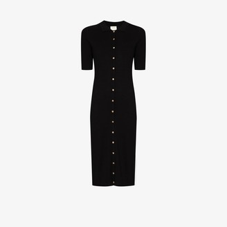 ST. AGNI Buttoned Polo Dress