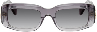 Balenciaga Grey Acetate Square Sunglasses