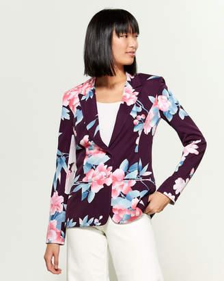 Leonard Floral Printed Silk Jacket