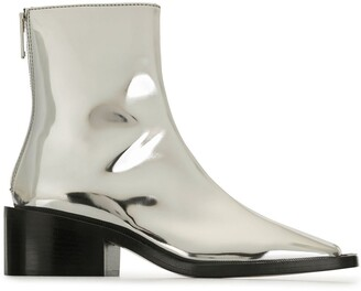 MM6 MAISON MARGIELA High-Shine Ankle Boots