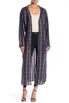 Love + Harmony Plaid Hooded Duster