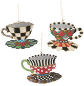 Mackenzie Childs MacKenzie-Childs - Wonderland Teacup Tree Decorations - Set of 3