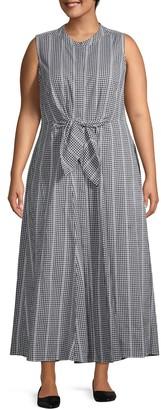 Calvin Klein Plus Printed Cotton Midi Dress