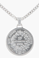 Givenchy Silver Medallion Necklace