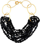 Catherine Canino Black Multi Strands Necklace