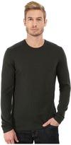 John Varvatos Long Sleeve Crew Sweater with Tonal Rivet Patches Y1187R3B