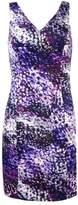 GUESS Women's Bodycon Sheath Mini Dress (6, Purple Multi)