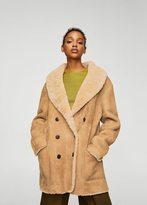 MANGO Shearling-lined coat