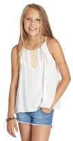 Billabong Girl's Embroidered Trapeze Tank