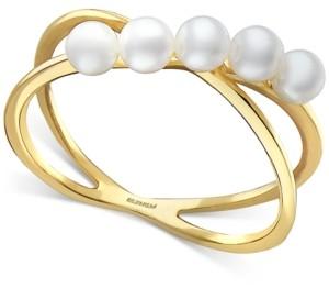Effy Cultured Freshwater Pearl (3mm) Crisscross Ring in 14k Gold