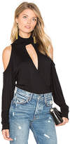 Haute Hippie Song In My Heart Cold Shoulder Blouse in Black