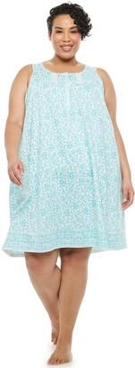 Croft & Barrow Plus Size Pintuck Sleeveless Nightgown