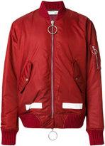 Off-White zip up bomber jacket - men - Polyamide/Viscose - XS