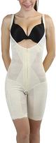 Beige Lace Long Underbust Shaper Bodysuit - Plus Too