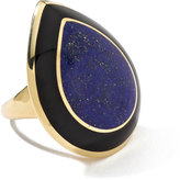 Ippolita Rock Candy 18k Teardrop Lapis & Onyx Cocktail Ring, Size 7