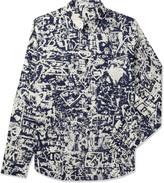 Carven Marine/Creme Printed Poplin Shirt