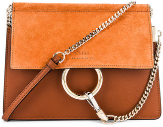 Chloé Mini Faye Shoulder Bag in Classic Tobacco | FWRD