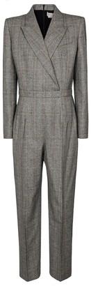 Alexander McQueen Checked stretch-wool jumpsuit