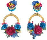 Ranjana Khan Rose Petal Clip-On Drop Earrings
