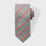 Paul Smith Men's Dogtooth Stripe Narrow Silk Tie