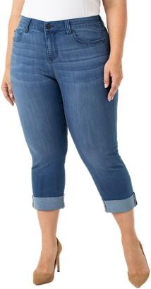 Liverpool Charlie Wide Cuff Crop Jeans