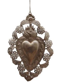 Chehoma - Silver Metal Ex-Vote Heart