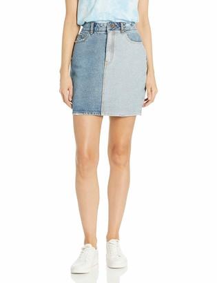 RVCA Junior's JOLT Denim Skirt