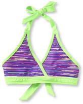 L.L. Bean Girls' BeanSport Bikini Top, Print