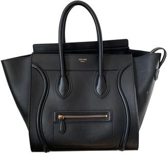 Celine Luggage Black Leather Handbags