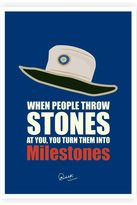 Motivation When People Throw Stone...Sachin Tendulkar's Poster Print (12 inch X 18 inch, Rolled)