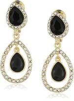 "Anne Klein Ear Spectacular"" Gold-Tone Double Drop Clip-On Earrings"
